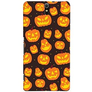 Oyehoye Halloween Pattern Style Printed Designer Back Cover For Sony Xperia C5 /Ultra Dual Sim Mobile Phone - Matte Finish Hard Plastic Slim Case