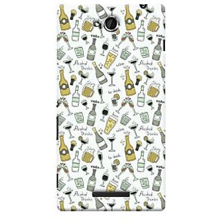 Oyehoye Patter Style Printed Designer Back Cover For Sony Xperia C Mobile Phone - Matte Finish Hard Plastic Slim Case