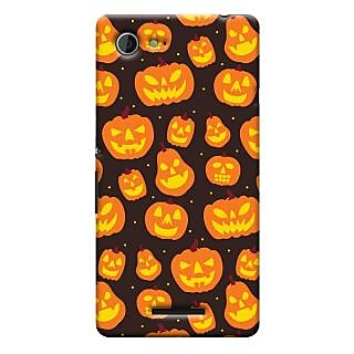 Oyehoye Halloween Pattern Style Printed Designer Back Cover For Sony Xperia E3 Mobile Phone - Matte Finish Hard Plastic Slim Case