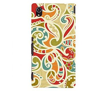 Oyehoye Floral Pattern Style Printed Designer Back Cover For Sony Xperia M4 Aqua/Dual Sim Mobile Phone - Matte Finish Hard Plastic Slim Case