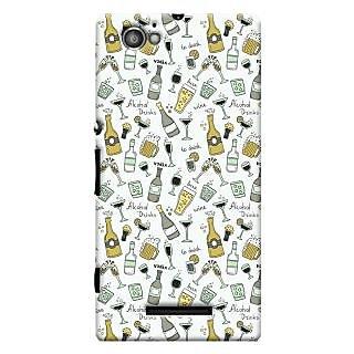 Oyehoye Patter Style Printed Designer Back Cover For Sony Xperia M Mobile Phone - Matte Finish Hard Plastic Slim Case