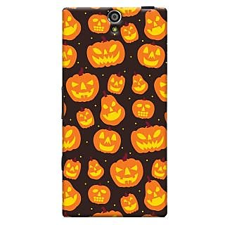Oyehoye Halloween Pattern Style Printed Designer Back Cover For Sony Xperia S Mobile Phone - Matte Finish Hard Plastic Slim Case