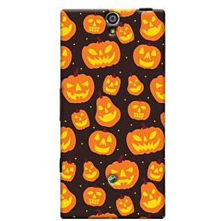 Oyehoye Halloween Pattern Style Printed Designer Back Cover For Sony Xperia SL Mobile Phone - Matte Finish Hard Plastic Slim Case