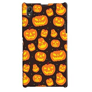 Oyehoye Halloween Pattern Style Printed Designer Back Cover For Sony Xperia Z1 Mobile Phone - Matte Finish Hard Plastic Slim Case