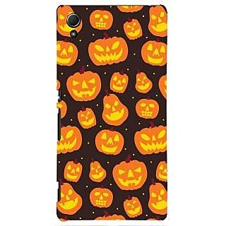 Oyehoye Halloween Pattern Style Printed Designer Back Cover For Sony Xperia Z4 Mobile Phone - Matte Finish Hard Plastic Slim Case