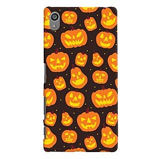Oyehoye Halloween Pattern Style Printed Designer Back Cover For Sony Xperia Z5 Plus/ Z5 Premium Mobile Phone - Matte Finish Hard Plastic Slim Case