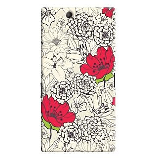 Oyehoye Floral Pattern Style Printed Designer Back Cover For Sony Xperia Z Ultra Mobile Phone - Matte Finish Hard Plastic Slim Case
