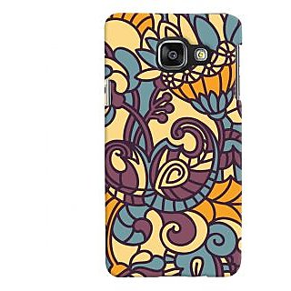 Oyehoye Floral Pattern Style Printed Designer Back Cover For Samsung Galaxy A3 A310 (2016 Edition) Mobile Phone - Matte Finish Hard Plastic Slim Case