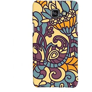 Oyehoye Floral Pattern Style Printed Designer Back Cover For Samsung Galaxy A5 A510 (2016 Edition) Mobile Phone - Matte Finish Hard Plastic Slim Case