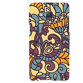 Oyehoye Floral Pattern Style Printed Designer Back Cover For Samsung Galaxy A5 (2015) Mobile Phone - Matte Finish Hard Plastic Slim Case