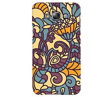 Oyehoye Floral Pattern Style Printed Designer Back Cover For Samsung Galaxy E7 Mobile Phone - Matte Finish Hard Plastic Slim Case