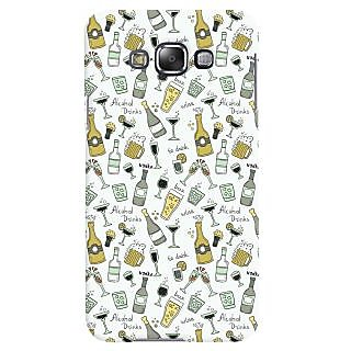 Oyehoye Patter Style Printed Designer Back Cover For Samsung Galaxy E7 Mobile Phone - Matte Finish Hard Plastic Slim Case