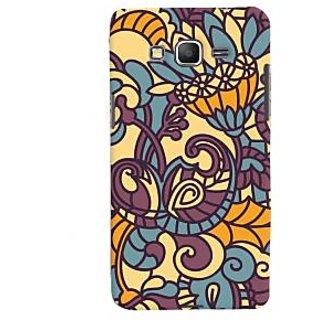 Oyehoye Floral Pattern Style Printed Designer Back Cover For Samsung Galaxy Grand Prime Mobile Phone - Matte Finish Hard Plastic Slim Case