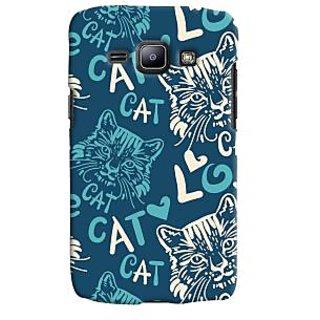 Oyehoye Cat Love Pattern Style Printed Designer Back Cover For Samsung Galaxy J1 (2016 Edition) Mobile Phone - Matte Finish Hard Plastic Slim Case