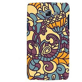 Oyehoye Floral Pattern Style Printed Designer Back Cover For Samsung Galaxy J7 Mobile Phone - Matte Finish Hard Plastic Slim Case