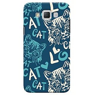 Oyehoye Cat Love Pattern Style Printed Designer Back Cover For Samsung Galaxy Grand Max Mobile Phone - Matte Finish Hard Plastic Slim Case