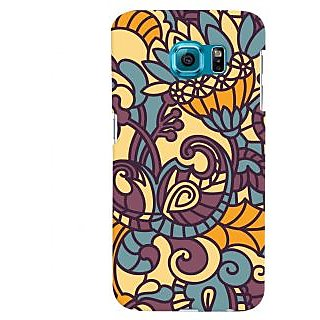 Oyehoye Floral Pattern Style Printed Designer Back Cover For Samsung Galaxy S6 Edge Mobile Phone - Matte Finish Hard Plastic Slim Case