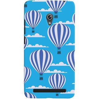 Oyehoye Hot Air Balloon Pattern Style Printed Designer Back Cover For Asus Zenfone 6 Mobile Phone - Matte Finish Hard Plastic Slim Case