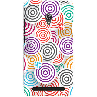 Oyehoye Colourful Pattern Printed Designer Back Cover For Asus Zenfone 6 Mobile Phone - Matte Finish Hard Plastic Slim Case
