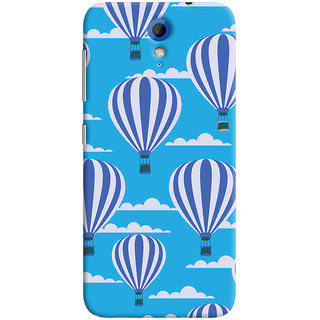 Oyehoye Hot Air Balloon Pattern Style Printed Designer Back Cover For HTC Desire 620 Mobile Phone - Matte Finish Hard Plastic Slim Case