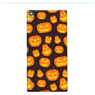 Oyehoye Halloween Pattern Style Printed Designer Back Cover For Huawei Ascend P7 / Dual Sim Mobile Phone - Matte Finish Hard Plastic Slim Case