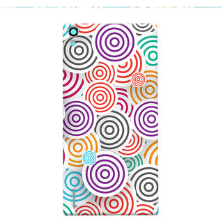 Oyehoye Colourful Pattern Printed Designer Back Cover For Huawei Ascend P7 / Dual Sim Mobile Phone - Matte Finish Hard Plastic Slim Case