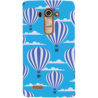 Oyehoye Hot Air Balloon Pattern Style Printed Designer Back Cover For LG G4 H818N Mobile Phone - Matte Finish Hard Plastic Slim Case