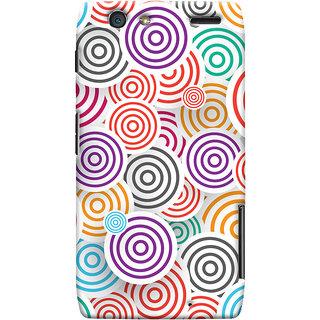 Oyehoye Colourful Pattern Printed Designer Back Cover For Motorola Razr Maxx Mobile Phone - Matte Finish Hard Plastic Slim Case