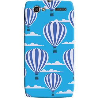 Oyehoye Hot Air Balloon Pattern Style Printed Designer Back Cover For Motorola RAZR V XT885 Mobile Phone - Matte Finish Hard Plastic Slim Case