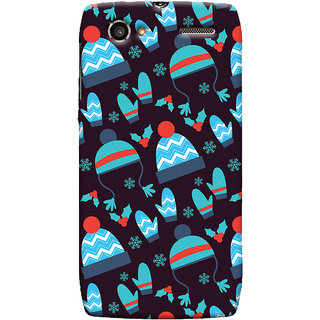 Oyehoye Winter Pattern Style Printed Designer Back Cover For Motorola RAZR V XT889 Mobile Phone - Matte Finish Hard Plastic Slim Case