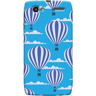 Oyehoye Hot Air Balloon Pattern Style Printed Designer Back Cover For Motorola RAZR V XT889 Mobile Phone - Matte Finish Hard Plastic Slim Case