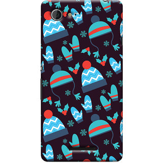 Oyehoye Winter Pattern Style Printed Designer Back Cover For Sony Xperia E3 Mobile Phone - Matte Finish Hard Plastic Slim Case