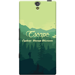 Oyehoye Travellers Escape Printed Designer Back Cover For Sony Xperia S Mobile Phone - Matte Finish Hard Plastic Slim Case