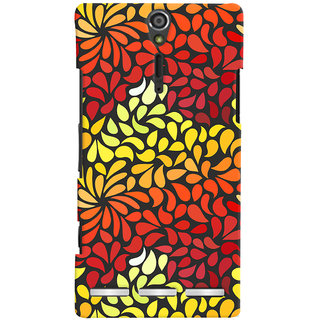Oyehoye Pattern Style Printed Designer Back Cover For Sony Xperia SL Mobile Phone - Matte Finish Hard Plastic Slim Case