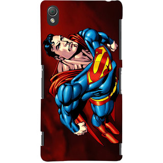 Oyehoye Superman Printed Designer Back Cover For Sony Xperia Z3 Compact / Mini Mobile Phone - Matte Finish Hard Plastic Slim Case