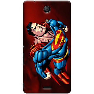 Oyehoye Superman Printed Designer Back Cover For Sony Xperia ZR Mobile Phone - Matte Finish Hard Plastic Slim Case