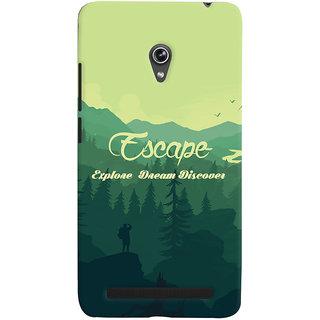 Oyehoye Travellers Escape Printed Designer Back Cover For Asus Zenfone 6 Mobile Phone - Matte Finish Hard Plastic Slim Case