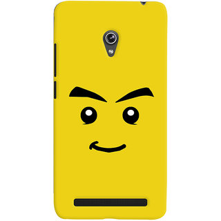 Oyehoye Sarcastic Smiley Quirky Printed Designer Back Cover For Asus Zenfone 6 Mobile Phone - Matte Finish Hard Plastic Slim Case