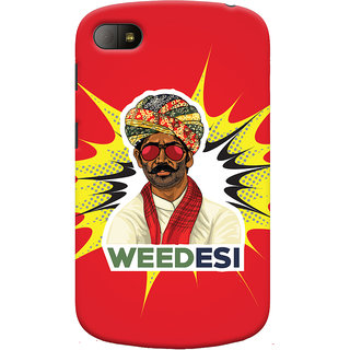 Oyehoye WEEDesi Quirky Style Printed Designer Back Cover For Blackberry Q10 Mobile Phone - Matte Finish Hard Plastic Slim Case