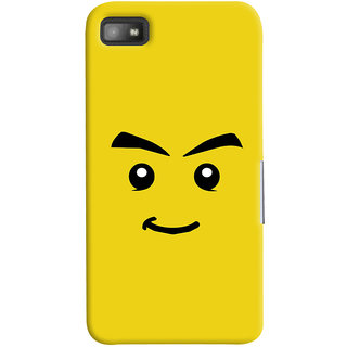Oyehoye Sarcastic Smiley Quirky Printed Designer Back Cover For Blackberry Z1O Mobile Phone - Matte Finish Hard Plastic Slim Case