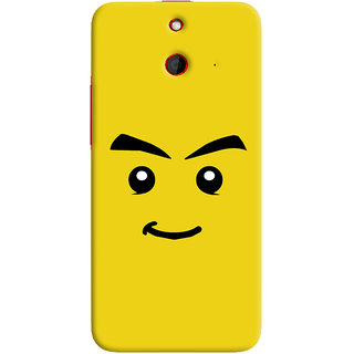 Oyehoye Sarcastic Smiley Quirky Printed Designer Back Cover For HTC One E8 Mobile Phone - Matte Finish Hard Plastic Slim Case