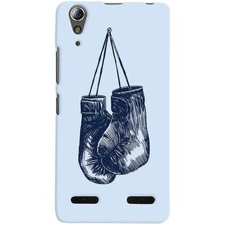 Oyehoye Boxing Minimal Art Printed Designer Back Cover For Lenovo A6000 Mobile Phone - Matte Finish Hard Plastic Slim Case