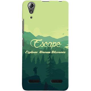 Oyehoye Travellers Escape Printed Designer Back Cover For Lenovo A6000 Mobile Phone - Matte Finish Hard Plastic Slim Case