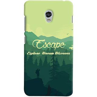 Oyehoye Travellers Escape Printed Designer Back Cover For Lenovo Vibe P1M Mobile Phone - Matte Finish Hard Plastic Slim Case