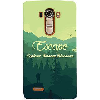 Oyehoye Travellers Escape Printed Designer Back Cover For LG G4 H818N Mobile Phone - Matte Finish Hard Plastic Slim Case