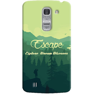 Oyehoye Travellers Escape Printed Designer Back Cover For LG Pro 2 / D838 Mobile Phone - Matte Finish Hard Plastic Slim Case