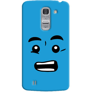 Oyehoye Quirky Smiley Printed Designer Back Cover For LG Pro 2 / D838 Mobile Phone - Matte Finish Hard Plastic Slim Case