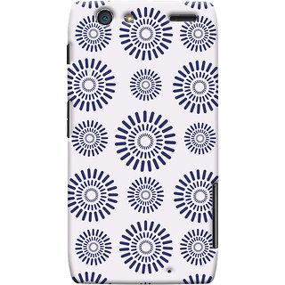 Oyehoye Pattern Style Printed Designer Back Cover For Motorola Razr Maxx Mobile Phone - Matte Finish Hard Plastic Slim Case