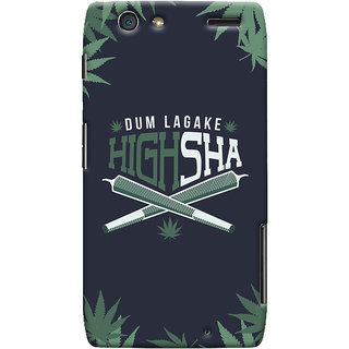 Oyehoye Dum Laga Ke Highsha Quirky Printed Designer Back Cover For Motorola Razr Maxx Mobile Phone - Matte Finish Hard Plastic Slim Case