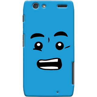 Oyehoye Quirky Smiley Printed Designer Back Cover For Motorola Razr Maxx Mobile Phone - Matte Finish Hard Plastic Slim Case